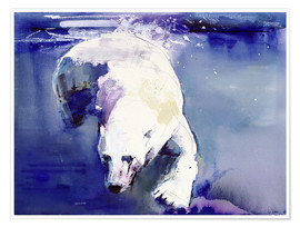 Póster  Polar bear underwater - Mark Adlington