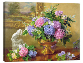 Lienzo  Still Life with hydrangeas and lilacs - Albert Williams