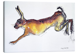 Lienzo  Jumping Hare - Lucy Willis