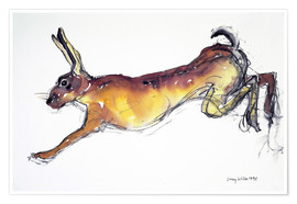 Póster  Jumping Hare - Lucy Willis