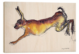 Cuadro de madera  Jumping Hare - Lucy Willis