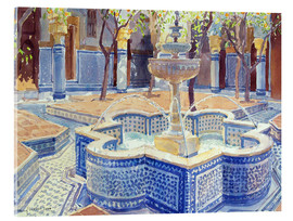 Cuadro de metacrilato  The blue fountain - Lucy Willis