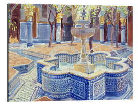 Cuadro de aluminio  The blue fountain - Lucy Willis