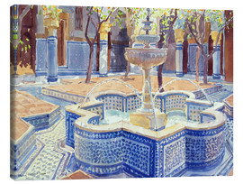 Lienzo  The blue fountain - Lucy Willis
