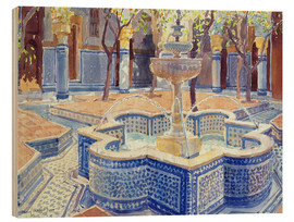 Cuadro de madera  The blue fountain - Lucy Willis