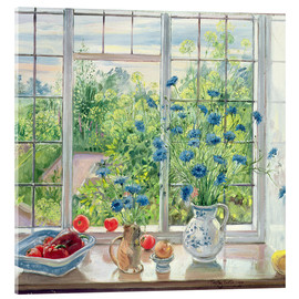 Metacrilato  Cornflowers and Kitchen Garden - Timothy Easton