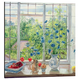 Cuadro de aluminio  Cornflowers and Kitchen Garden - Timothy Easton