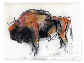 Póster Sketch of a bull