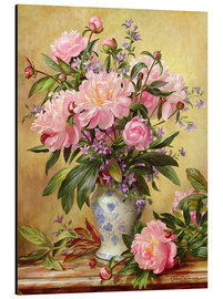 Aluminio-Dibond  Vase of Peonies and Canterbury Bells - Albert Williams