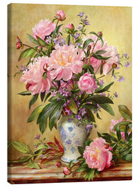 Lienzo  Vase of Peonies and Canterbury Bells - Albert Williams