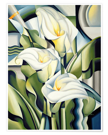 Póster  Cubist lilies - Catherine Abel