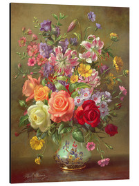 Cuadro de aluminio  A Summer Floral Arrangement - Albert Williams