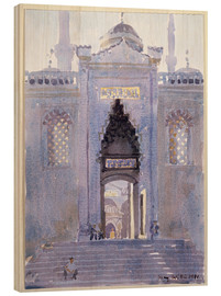Cuadro de madera  Gateway to The Blue Mosque - Lucy Willis