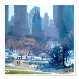 Póster  Winter in Central Park, New York, 1997 - Julian Barrow