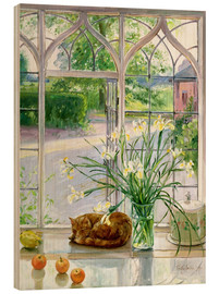 Madera  Sleeping cat in the window - Timothy Easton
