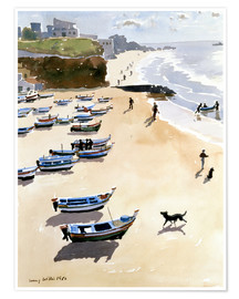 Póster  Boats on the Beach - Lucy Willis