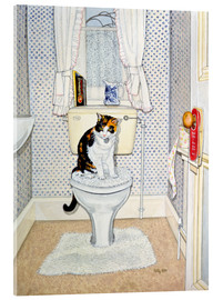 Cuadro de metacrilato  Cat on the Loo - Ditz