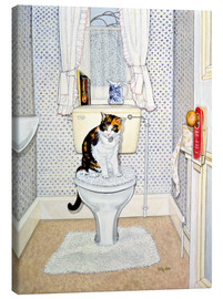 Lienzo  Cat on the Loo - Ditz