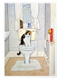 Póster  Cat on the Loo - Ditz