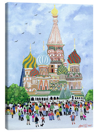 Lienzo  St. Basil's Cathedral, Red Square, 1995 - Judy Joel