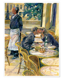 Póster  Lovers in August, Paris - Rosemary Lowndes