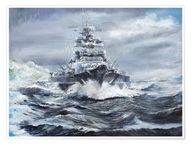 Póster  Bismarck off Greenland coast - Vincent Alexander Booth