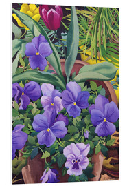 Cuadro de PVC  Flower pots with pansies, 2007 - Christopher Ryland