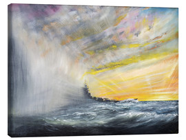 Lienzo  Yamato Emerges from Pacific Typhoon - Vincent Alexander Booth