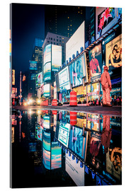 Cuadro de metacrilato  Broadway, Times Square by night - Sascha Kilmer