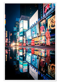 Póster  Broadway, Times Square by night - Sascha Kilmer