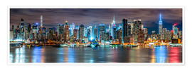 Póster New York City Skyline panoramic view