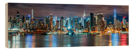 Cuadro de madera  New York City Skyline panoramic view - Sascha Kilmer
