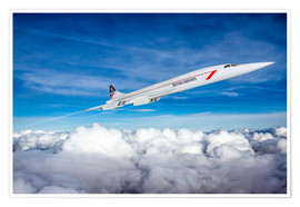 Póster  Concorde Supersonic - Paul Heasman