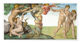 Póster  Sistine Chapel Ceiling : The Fall of Man - Michelangelo