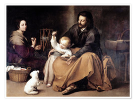 Póster The Holy Family with the Little Bird