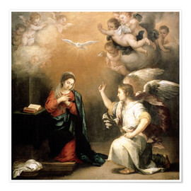 Póster Annunciation to the Virgin