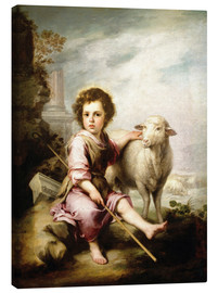 Lienzo  The Good Shepherd - Bartolome Esteban Murillo