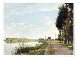 Póster  The walk at Argenteuil - Claude Monet