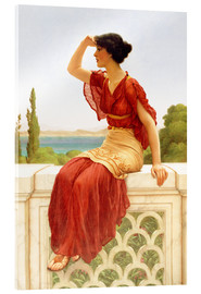 Cuadro de metacrilato  The Signal - John William Godward