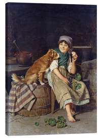 Lienzo  Girl with Dog - Federico Mazzotta
