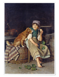 Póster Girl with Dog