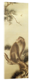 Cuadro de metacrilato  Monkey watching a dragonfly - Japanese School