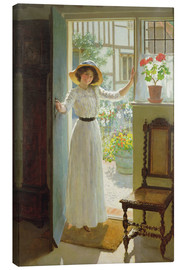 Lienzo  En la puerta principal - William Henry Margetson