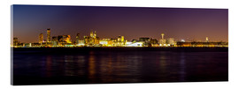 Cuadro de metacrilato  Liverpool skyline at night Panorama - Thomas Hagenau