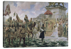 Lienzo  The Arrival of Roger de Flor in Constantinople in 1303 with 8000 'Almogavares' serving the Byzantine - José Moreno Carbonero