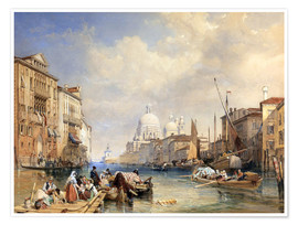 Póster  The Grand Canal, Venice, 1835 - James Duffield Harding
