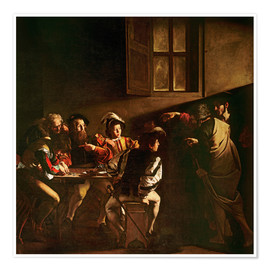 Póster  The Calling of St. Matthew - Michelangelo Merisi (Caravaggio)