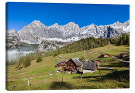 Lienzo  Alm in the Alps - Gerhard Wild