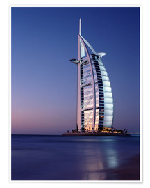 Póster  The Burj Al-Arab at dusk - Ian Cuming