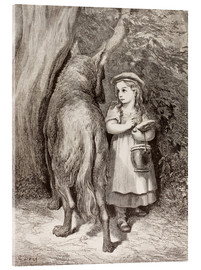 Cuadro de metacrilato  Scene From Little Red Riding Hood By Charles Perrault - Gustave Doré